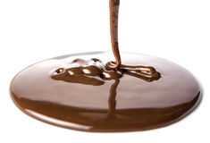 Chocolate flows Royalty Free Stock Photo