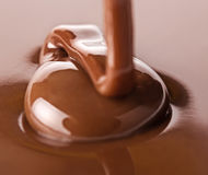 Chocolate flows Stock Photography