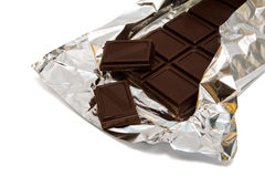Chocolate in a foil Royalty Free Stock Photos