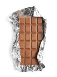 Chocolate in a foil Stock Images