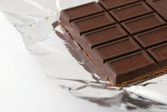 Chocolate on a foil Royalty Free Stock Photography