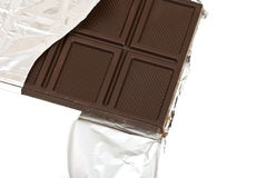 Chocolate on foil Stock Images