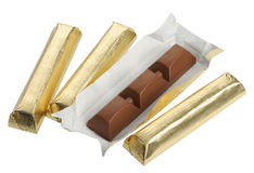 Chocolate in foil,  Stock Photography