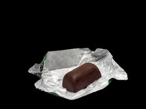 Chocolate in foil Royalty Free Stock Photos