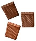 Chocolate folds Stock Photos