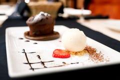 Chocolate fondant Stock Image