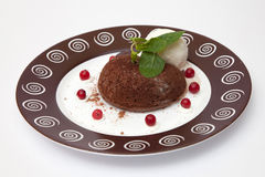 Chocolate fondant Stock Images