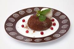 Chocolate fondant Stock Images