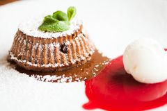 Chocolate fondant Royalty Free Stock Photos