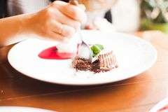 Chocolate fondant Stock Photography