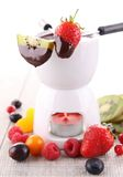 Chocolate fondue Royalty Free Stock Image