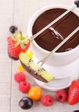 Chocolate fondue Stock Image
