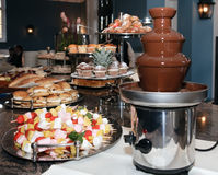 Chocolate Fondue Royalty Free Stock Photography