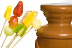 Chocolate fondue Stock Photo