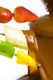 Chocolate fondue Royalty Free Stock Photos