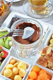 Chocolate fondue Stock Photography