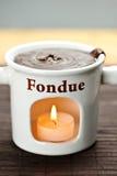 Chocolate fondue pot Royalty Free Stock Photography