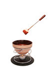 Chocolate fondue and stick with marshmallow Stock Photo