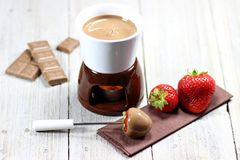 Chocolate fondue Stock Image