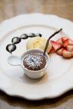 Chocolate fondue Stock Photos