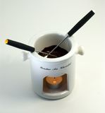 Chocolate Fondue for Two Royalty Free Stock Images