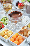 Chocolate fondue Royalty Free Stock Photo