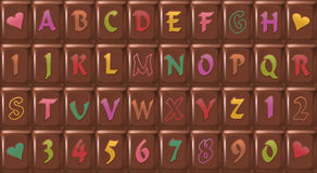 Chocolate-Font Royalty Free Stock Images