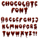 Chocolate font Stock Image