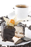 Chocolate food with coffee and milk Stock Photo