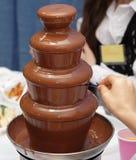 Chocolate fountain Stock Image