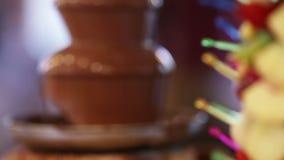 Chocolate fountain stock video