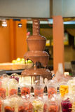 Chocolate fountain Royalty Free Stock Images