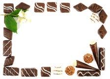 Chocolate fraime Royalty Free Stock Photo