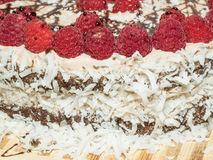 Chocolate Framboise Layer Cake Imagem de Stock