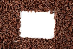 Chocolate frame Royalty Free Stock Image