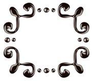 Chocolate frame Stock Photo