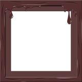Chocolate frame Stock Image