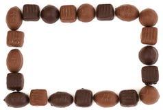 Chocolate frame stock photos