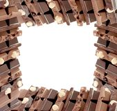 Chocolate frame Royalty Free Stock Photos