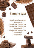 Chocolate frame Stock Photography