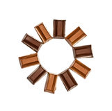 Chocolate frame Stock Images