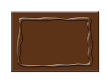 Chocolate frame in rectangle shape Royalty Free Stock Images