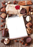 Chocolate frame. Stock Images