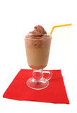 Chocolate frappe. Isolated on white royalty free stock photos