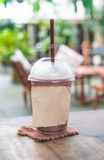 chocolate frappe in cafe Royalty Free Stock Images