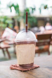 Chocolate frappe in cafe Royalty Free Stock Photography