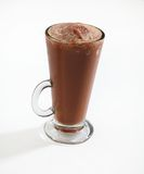 Chocolate frappe slush. Cup isolated Stock Photos