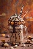 Chocolate freak or crazy shake Stock Photography
