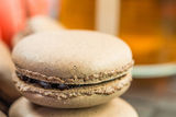 Chocolate French Macarons I Stock Photography