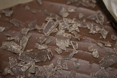 Chocolate frosted brownie Royalty Free Stock Photography